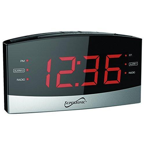 Bluetooth Alarm Clock Radio Black