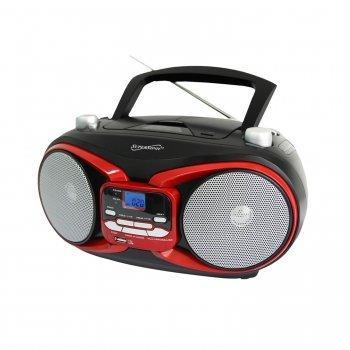 CD MP3 AM FM Boombox Red