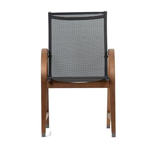 Bahamas 4 Piece Eucalyptus Patio Armchair Set