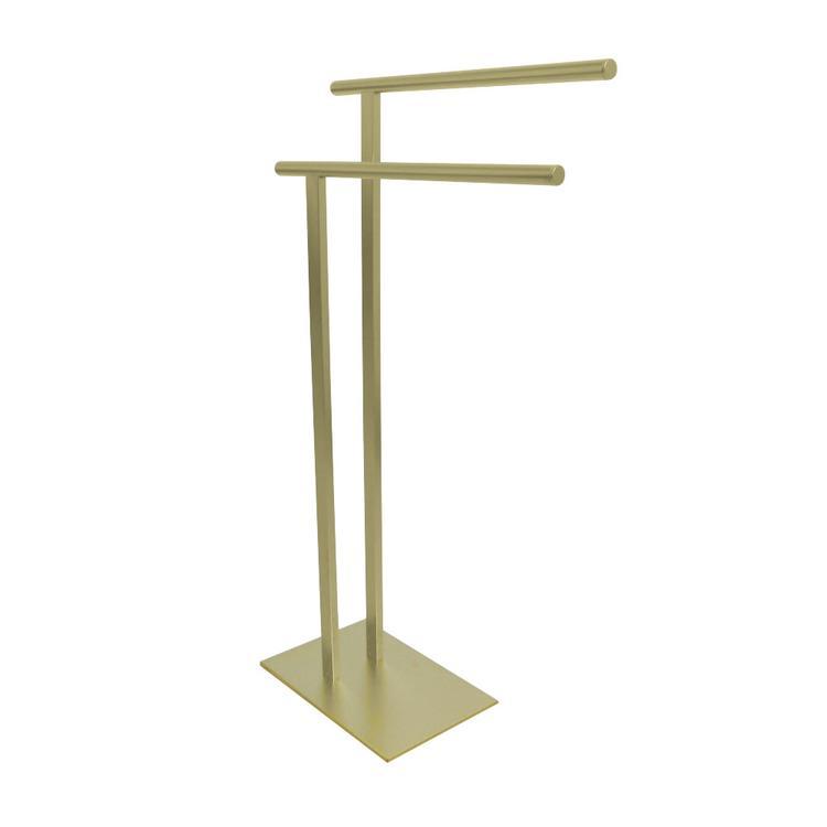 Kingston Brass SCC6037 Freestanding Double Towel Rack, Satin Brass