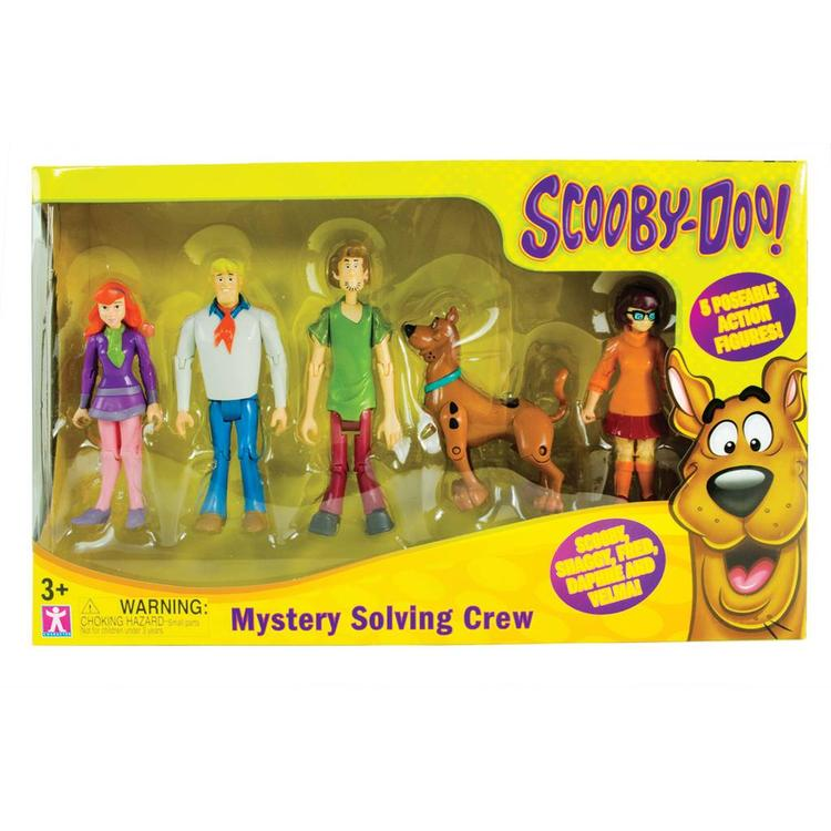 Scooby Doo Mystery Solving Crew and 5 Action Figure Playset