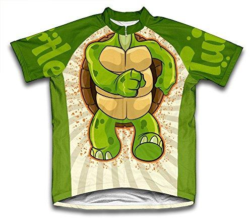 Turtle Microfiber Short-Sleeved Cycling Jersey, XL