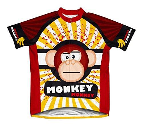 Crazy Banana Monkey Microfiber Short-Sleeved Cycling Jersey, M