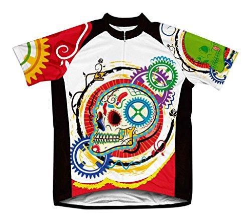 Elegant Skull Microfiber Short-Sleeved Cycling Jersey, L
