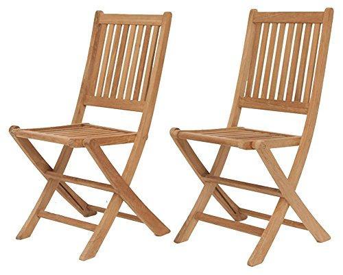 London 2 Piece Teak Folding Chair Set
