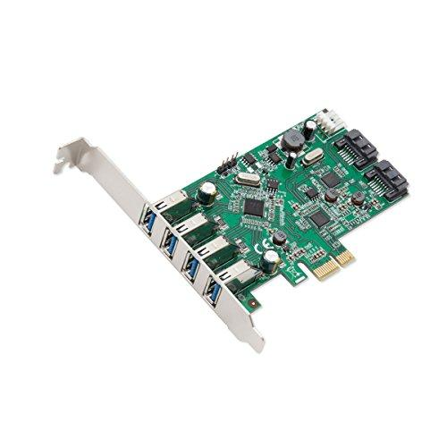 4 Port USB 3.0 and 2 Port SATA III PCI-e 2.0 x1 Card