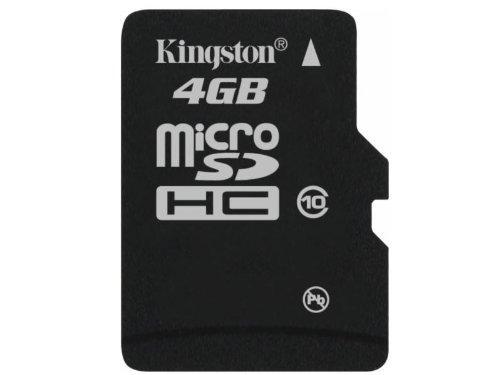Kingston - Flash Memory Card - 4 Gb - Microsdhc