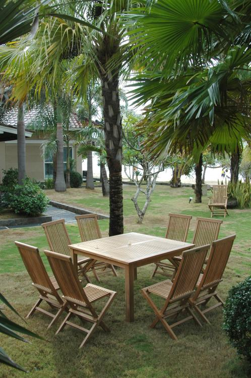 Anderson Teak Windsor Classic Chair 9-Pieces Folding Dining Set