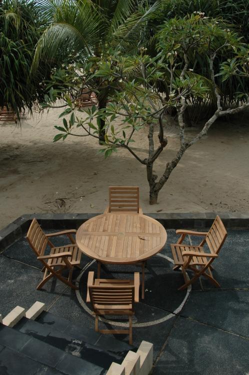 Anderson Teak Andrew Bahama 5-Pieces Folding Dining Set