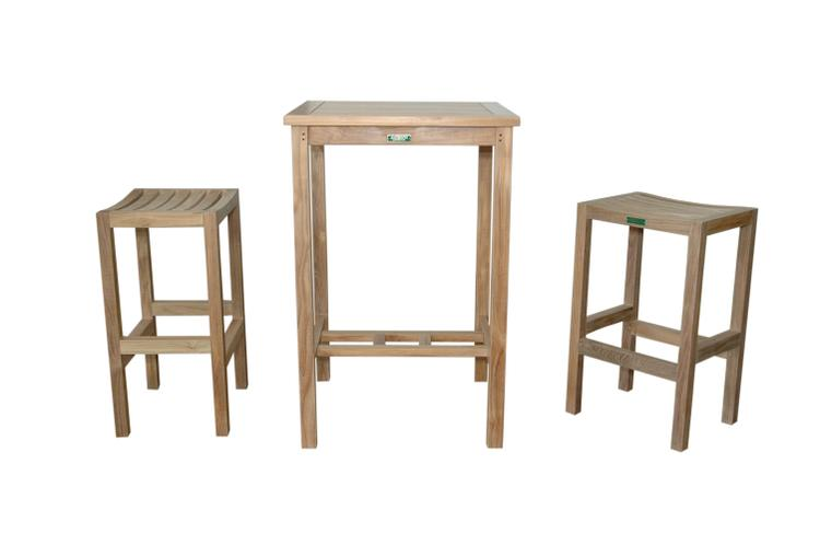 Anderson Teak Bahama Avalon 3-Pieces Square Bar Set