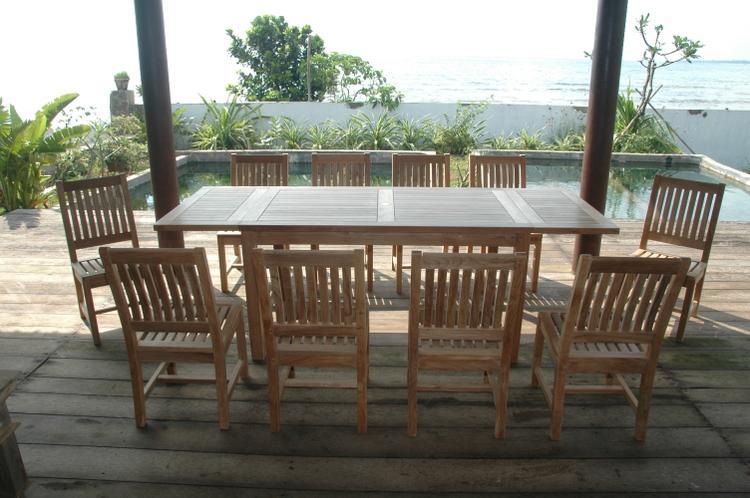 Anderson Teak Bahama Rialto 11-Pieces Rectangular Dining Set