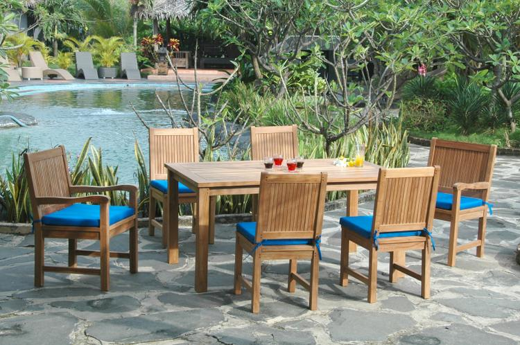 Anderson Teak Montage Chester 7-Pieces Dining Set [Item # SET-204]