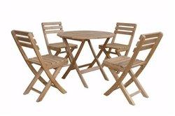 Anderson Teak Chester Alabama 5-Pieces Bistro Set [Item # SET-226]