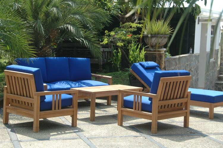 Anderson Teak Southbay Deep Seating 6-Pieces Conversation Set B