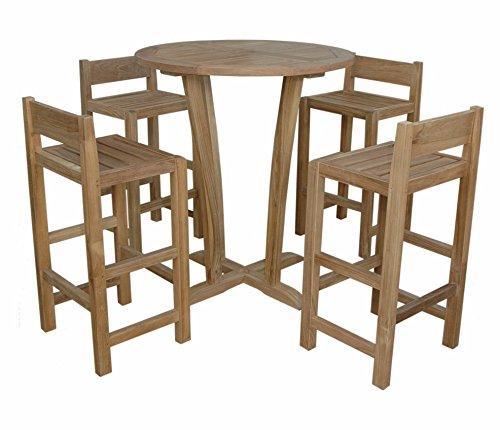 Anderson Teak Descanso Sedona 5-Pieces Bar Table [Item # SET-290]