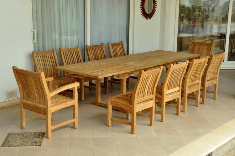 Anderson Teak Bahama Sahara 11-Pieces Rectangular Dining Set [Item # Set-89]