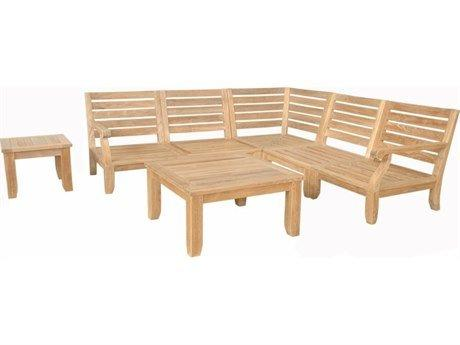 Anderson Teak Riviera Luxe 7-Pieces Modular Set With Square Tables