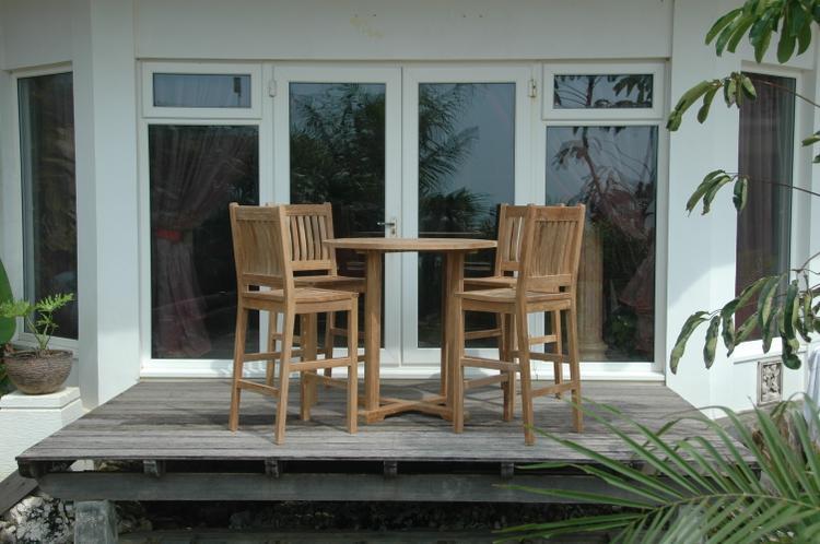 Anderson Teak Bahama Avalon 5-Pieces Round Bar Set [Item # Set-9]