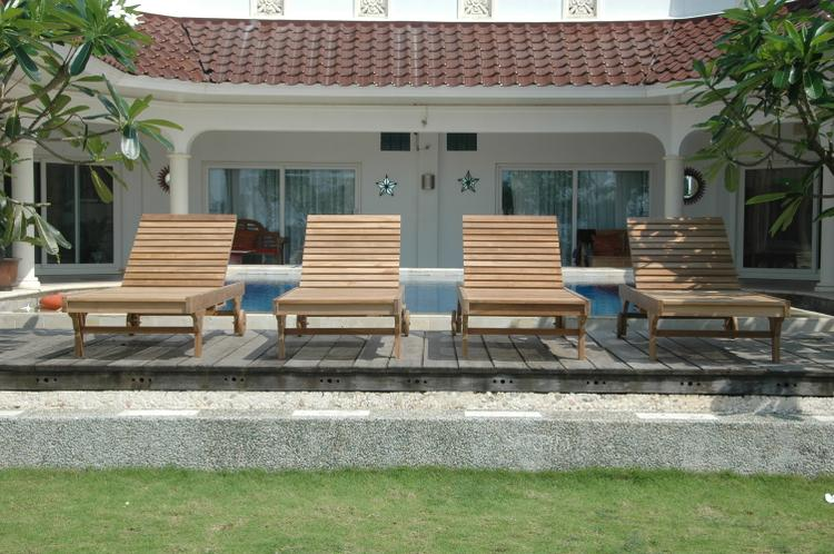 Anderson Teak Capri Sun Lounger 4-Pieces Set
