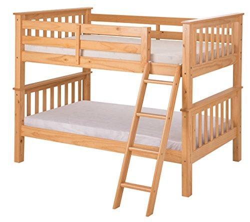 Santa Fe Mission Low Bunk Bed Twin over Twin - Angle Ladder