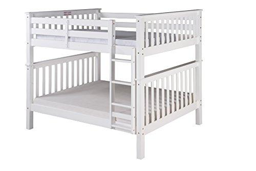 Santa Fe Mission Tall Bunk Bed Full over Full - Attached Ladder [Item # SF703_WH]