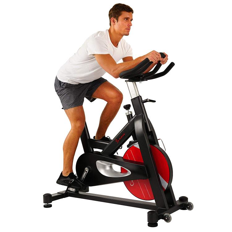 Sunny Health & Fitness Evolution Pro Magnetic Belt Drive Indoor Cycling Bike - SF-B1714