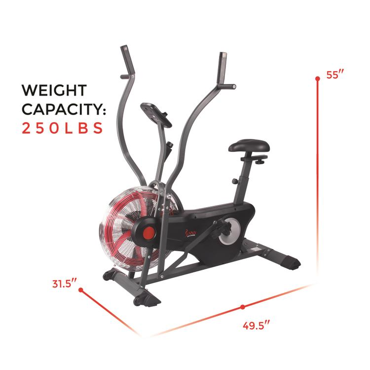 Sunny Health And Fitness Air Bike Trainer