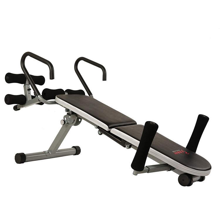 Sunny Health & Fitness Invert Extend N Go Back Stretcher Bench for Back Pain Relief, Decompression Therapy