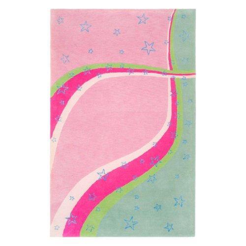 Kids Rug - Safavieh Kids Wool/Viscose -Green/Pink
