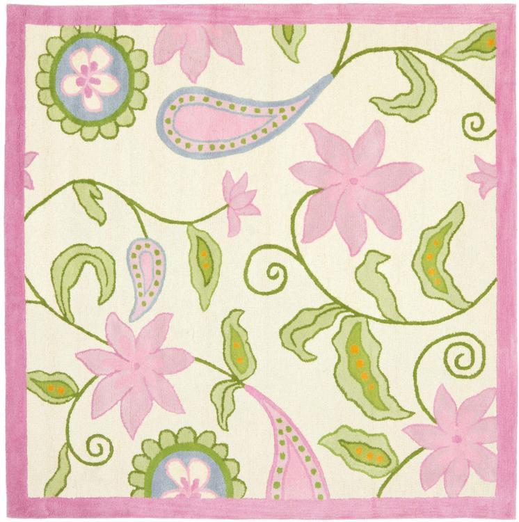 Safavieh Kids Ivory/Pink Large Rectangle Rug