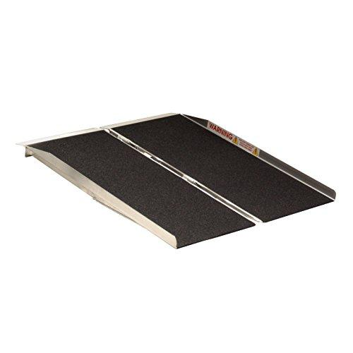 4-ft x 30-in Portable Singlefold Wheelchair Ramp 800 lb. Weight Capacity, Maximum 8-in Rise