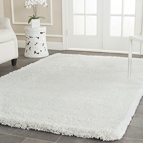 Shag & Flokati Rug - Classic Shag Acrylic Pile/Cotton Backing -White