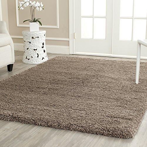 Shag & Flokati Rug - Shag Polypropylene Pile/Weight Is 3700Gr/M2/Pile Height 5Cm/Backing Is Jute/Polyester / Cotton -Taupe