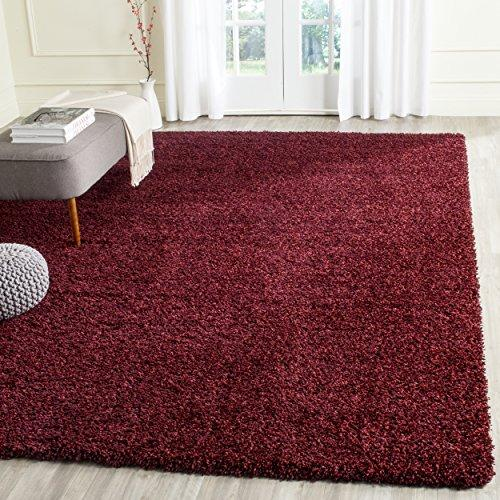 Shag & Flokati Rug - Shag Polypropylene Pile/Weight Is 3700Gr/M2/Pile Height 5Cm/Backing Is Jute/Polyester / Cotton -Maroon