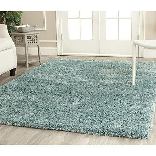 Shag & Flokati Rug - Shag Polypropylene Pile/Weight Is 3700Gr/M2/Pile Height 5Cm/Backing Is Jute/Polyester / Cotton -Light Blue