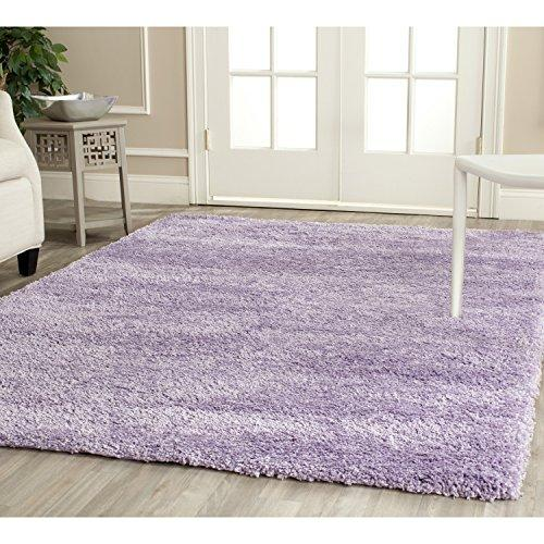 Shag & Flokati Rug - Shag Polypropylene Pile/Weight Is 3700Gr/M2/Pile Height 5Cm/Backing Is Jute/Polyester / Cotton -Lilac