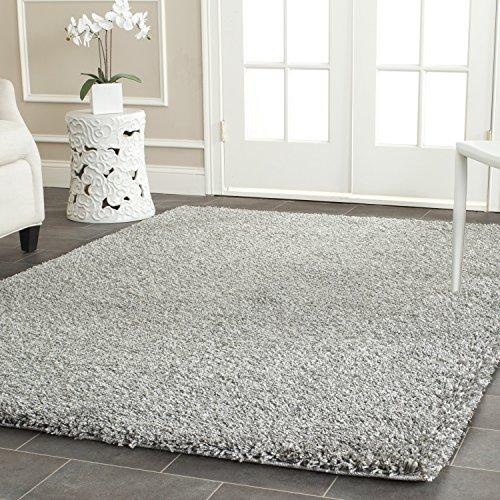 Shag & Flokati Rug - Shag Polypropylene Pile/Weight Is 3700Gr/M2/Pile Height 5Cm/Backing Is Jute/Polyester / Cotton -Silver