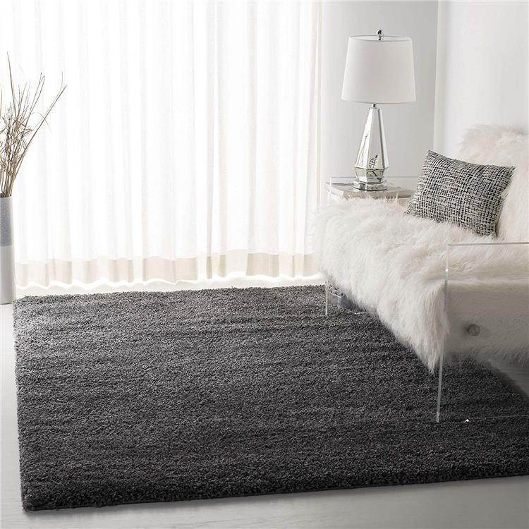 Shag & Flokati Rug - Shag Polypropylene Pile/Weight Is 3700Gr/M2/Pile Height 5Cm/Backing Is Jute/Polyester / Cotton -Dark Grey