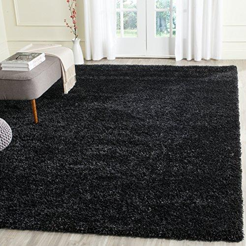 Shag & Flokati Rug - Shag Polypropylene Pile/Weight Is 3700Gr/M2/Pile Height 5Cm/Backing Is Jute/Polyester / Cotton -Black