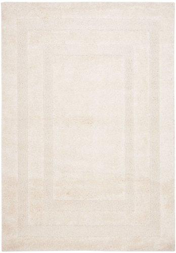 Shag & Flokati Rug - Shag Polypropylene Pile/Latex Backing/Weight 3600Gms/Sqm/Pile Height 3Cm -Creme/Creme