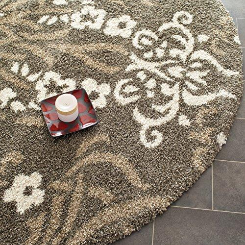 Shag & Flokati Rug - Shag Polypropylene Pile/Latex Backing/Weight 3600Gms/Sqm/Pile Height 3Cm -Smoke/Beige Style-A