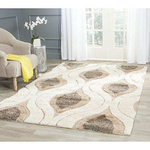 Shag & Flokati Rug - Shag Polypropylene Pile/Latex Backing/Weight 3600Gms/Sqm/Pile Height 3Cm -Cream/Smoke