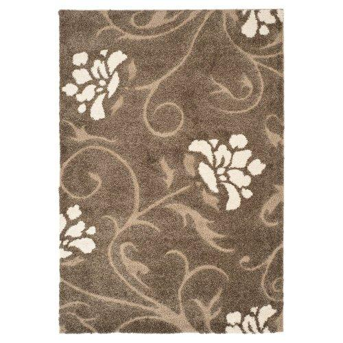 Shag & Flokati Rug - Shag Polypropylene Pile/Latex Backing/Weight 3600Gms/Sqm/Pile Height 3Cm -Smoke/Beige Style-E