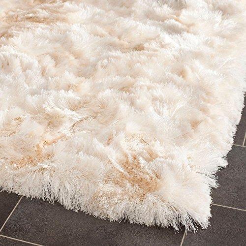 Shag & Flokati Rug - Paris Shag Polyester Pile -Ivory