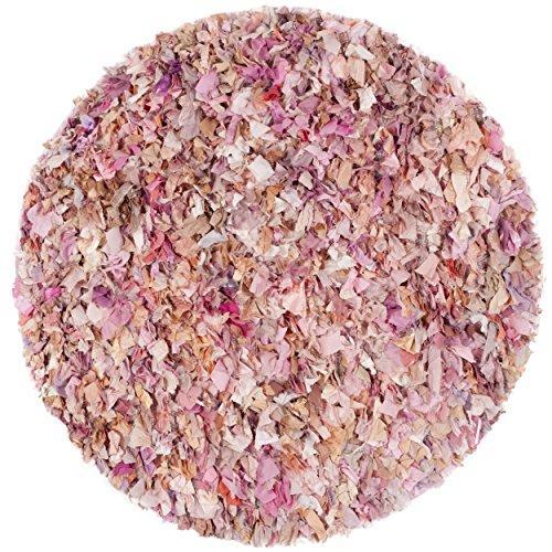 Shag & Flokati Rug - Rio Shag Polyester -Ivory/Pink