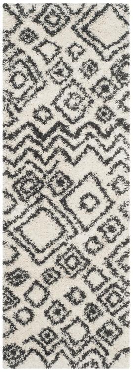 Shag & Flokati Rug - Belize Shag -Ivory/Charcoal