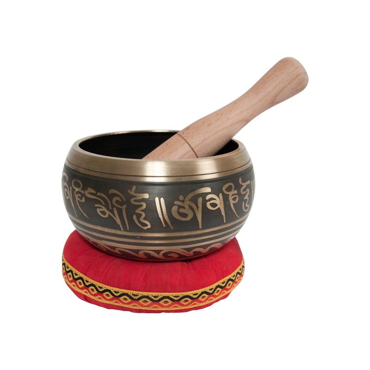 DOBANI Decorated Singing Bowl 4 1/2