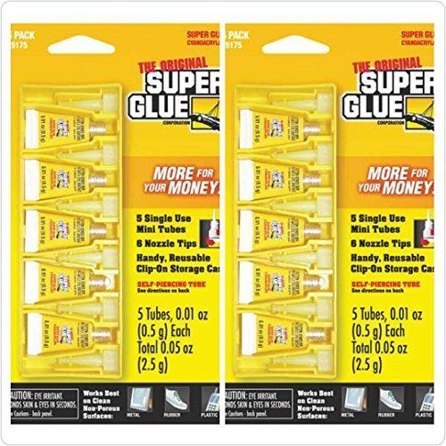SUPER GLUE 15175-12 Instant Adhesive Mini Tubes, 5 pk