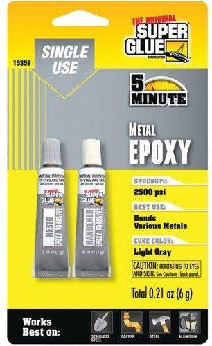 SUPER GLUE 15359 Single-Use Epoxy Tubes for Metal