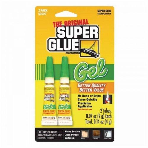SUPER GLUE SGG22-12 Thick-Gel Super Glue Tubes (Double Pack)